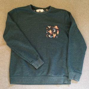 On the Byas pin-up girl pocket sweatshirt